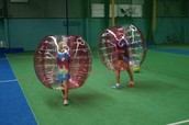 Have fun playing Bubble Soccer!
