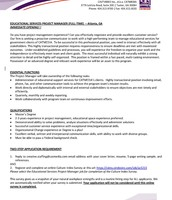 Educational Services Project Manager pg 1