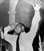 MLK Giving a powerful serman