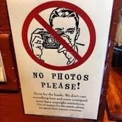 No photos please!