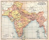 Map of India under British rule