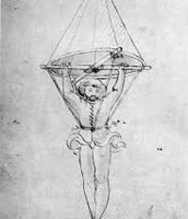 One of the first pictures of a Parachute