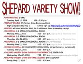 2nd/FINAL Posting - Shepard Variety Show