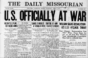 U.S. enters World War One