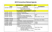 2015 Consortium Retreat Agenda