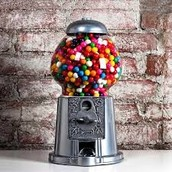 A gumball machine made in Oklahoma