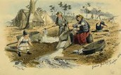 Women Panning in the River for Gold