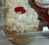 White Chocolate Raspberry Cupcake