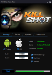 Kill Shot Hack and Cheats - Unlimited Cash & Gold