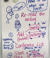 We made charts together to help us learn Writer's Workshop procedures