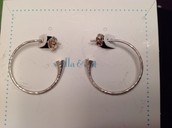 Brushed silver hoops NOW ONLY $15.00