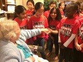 Our choir spread some holiday cheer to some Frisco senior citizens on Wednesday.