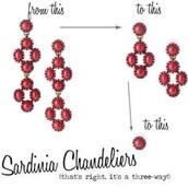 SARDINIA CHANDELIERS Was £50 NOW £35