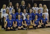 2012 D-1 Volleyball State Champions