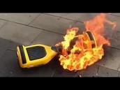 Burning Hoverboard