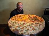 Más grande de pizza jamás Desafío