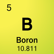Boron has an Atomic number of 5
