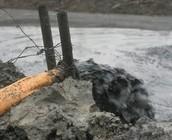 Oil dump in water