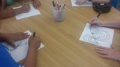 Thanks to PTA art lessons have begun for 3rd-6th grade