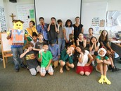 Enthusiastic book characters