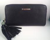 Mercer wallet in black leather
