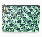 ALL IN POUCH - SPEARMINT/NAVY MONKEYS $17 (55% off)