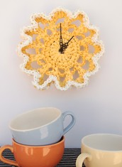13 - Plastic Bag Doily Clock