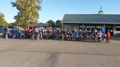 We saddled up and participated in Bike To School this Fall
