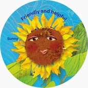 Iron on the Yellow Petal Patch: Sunny