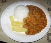 El arroz con yuca