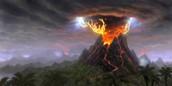 Lightning Struck A Volcano