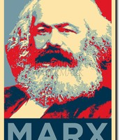 A poster of Karl Marx