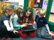 Working together to figure out a code.