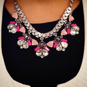 Callie Necklace in Pink & Silver