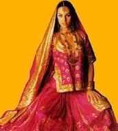 A women in a dress