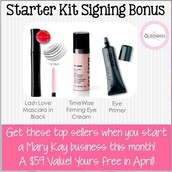 Starter kit bonus in April