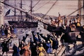 The Boston Tea Party of 1773