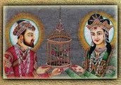SHAH JAHAN AND MUMTAZ MUHAL HOLDING A CAGE