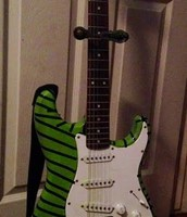 Green and Black Strat