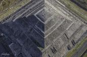 Esta foto enseña las capas de este piramide