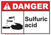 The hazard warning sign for Sulfuric Acid