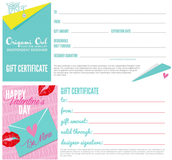 Gift Certs. Available
