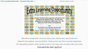 Extra Learning Opportunity