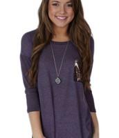 Camisa púrpura