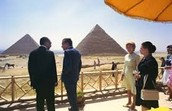 Nixon Chats with the Egyptian President