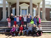 On the steps of Monticello.