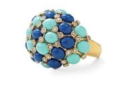 Midnight Bloom Ring (Adjustable-Blues) $15