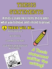 Teaching Students to Write a Thesis Statement