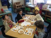 Making 100th day trail mix!