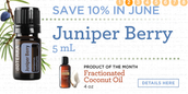 10% Off Juniper Berry, and Fractionated Coconut Oil FREE